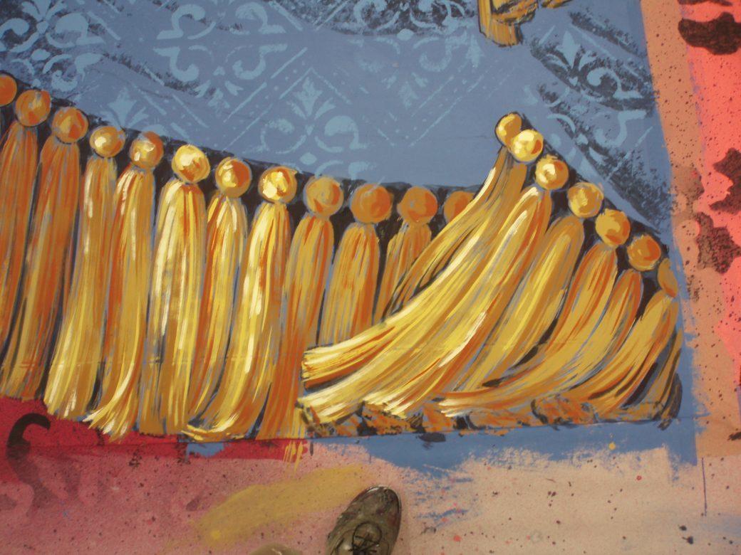 Detail of Parlour drop. SA Val Light