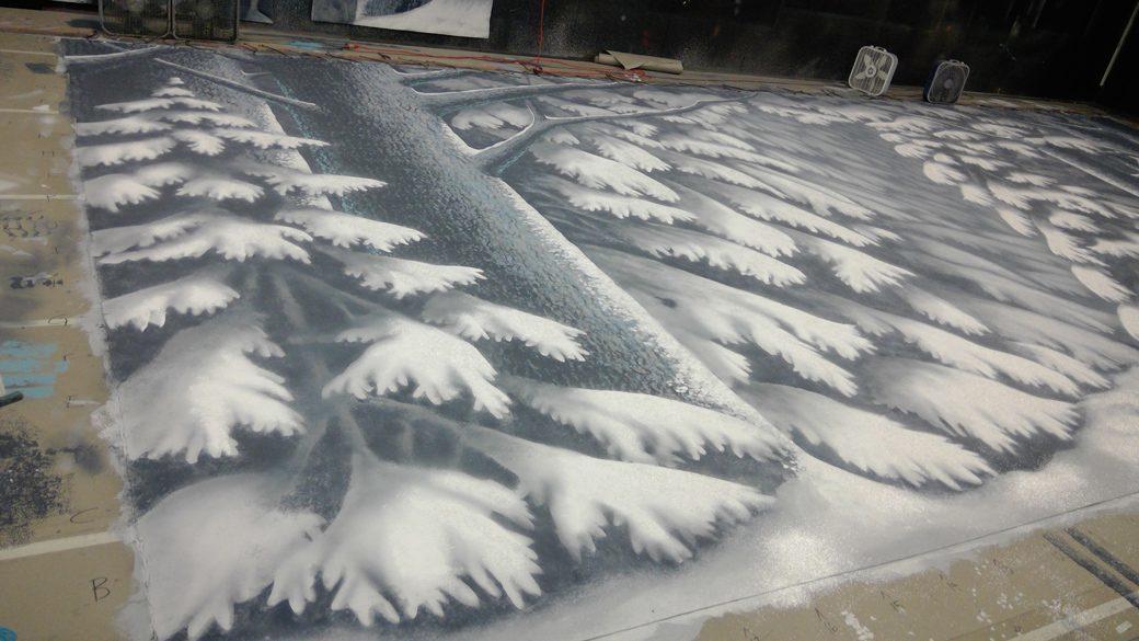 Snow Scene backdrop SL