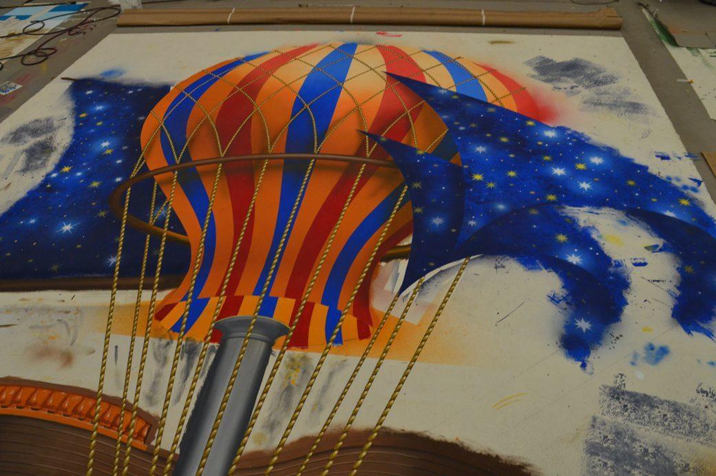 The balloon cut-out - SA = Shannon Komlofske, Jessica Carpenter & Michelle Urcuyo