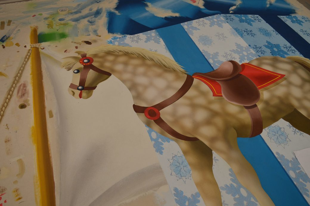 Horse and package cut-out - SA Terra Writz, Em Barnhill and Sarah Abernathy